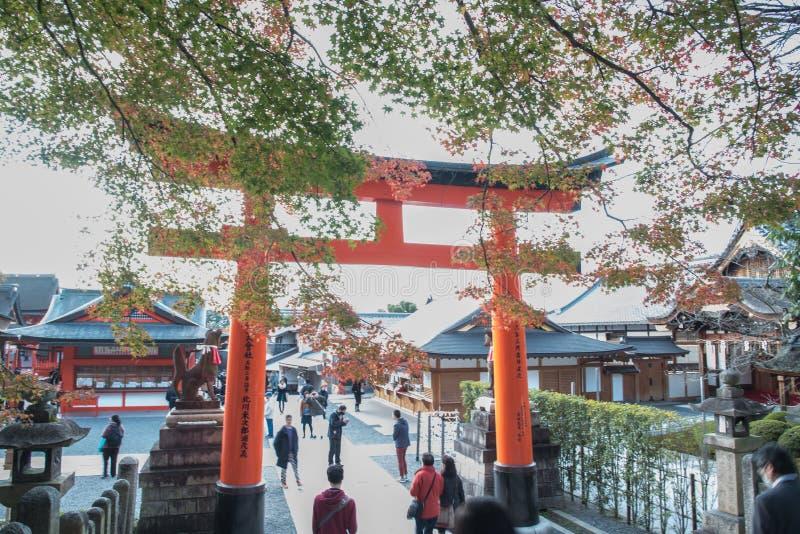 Opinião Tori Gate vermelha em Fushimi foto de stock