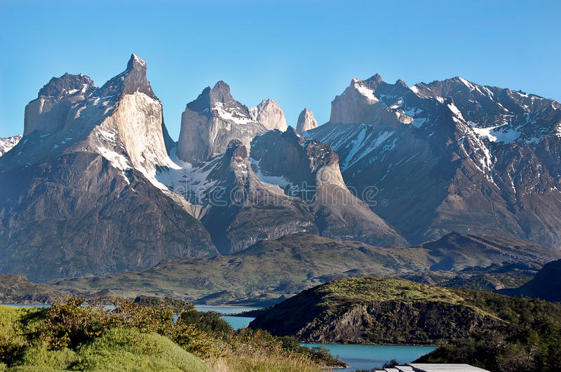 Opinião Torres del Paine fotos de stock royalty free