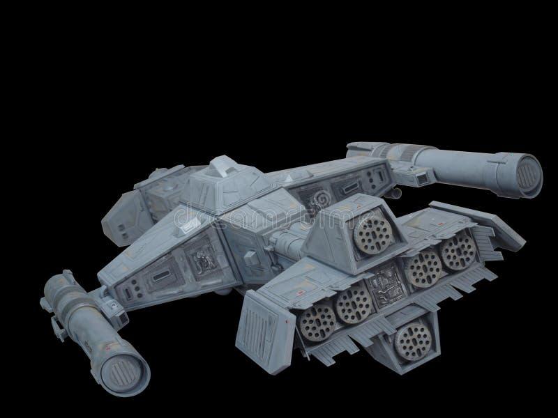 Opinião traseira 2 da nave espacial fotos de stock