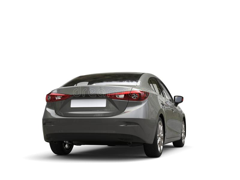 Opinião traseira automobilístico do negócio moderno cinzento metálico ilustração royalty free