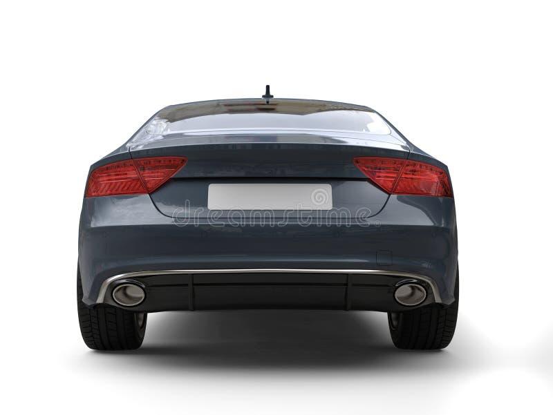 Opinião traseira automobilístico do negócio moderno escuro do cinza de ardósia ilustração do vetor
