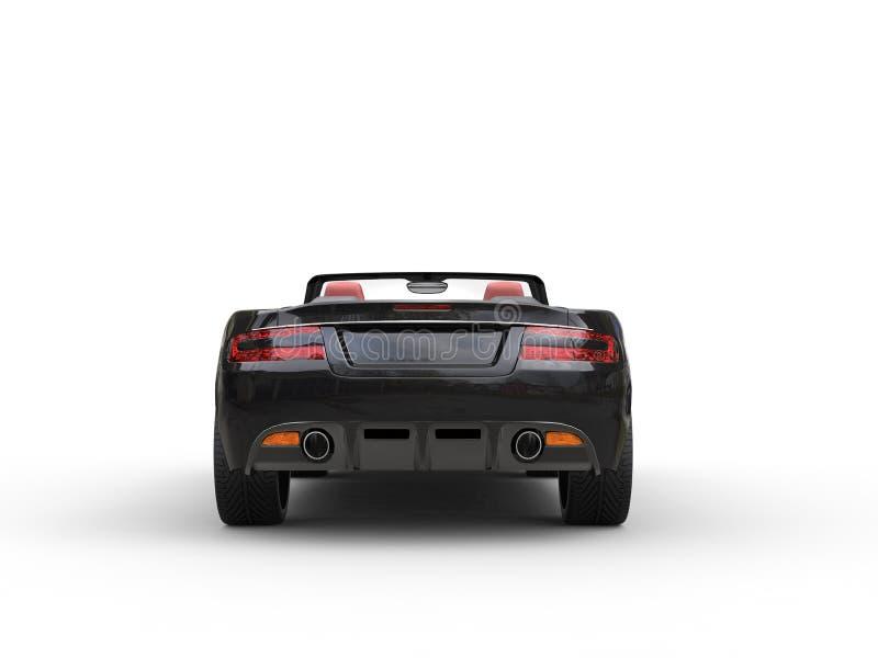 Opinião traseira automobilístico dos esportes convertíveis pretos fotografia de stock