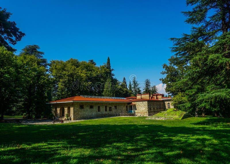 Opinião traseira do palácio de Telavi Tsinandali imagens de stock royalty free
