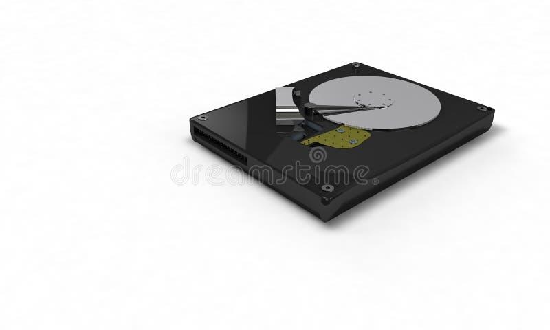 Opinião tridimensional do direito do fundo do disco rígido ilustração do vetor