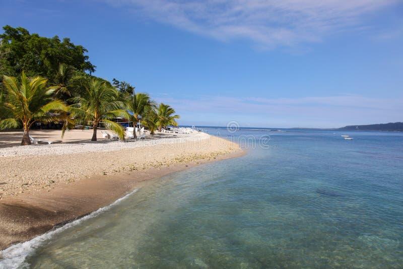 Opinião tropical da praia da ilha em Vanuatu - South Pacific fotografia de stock royalty free