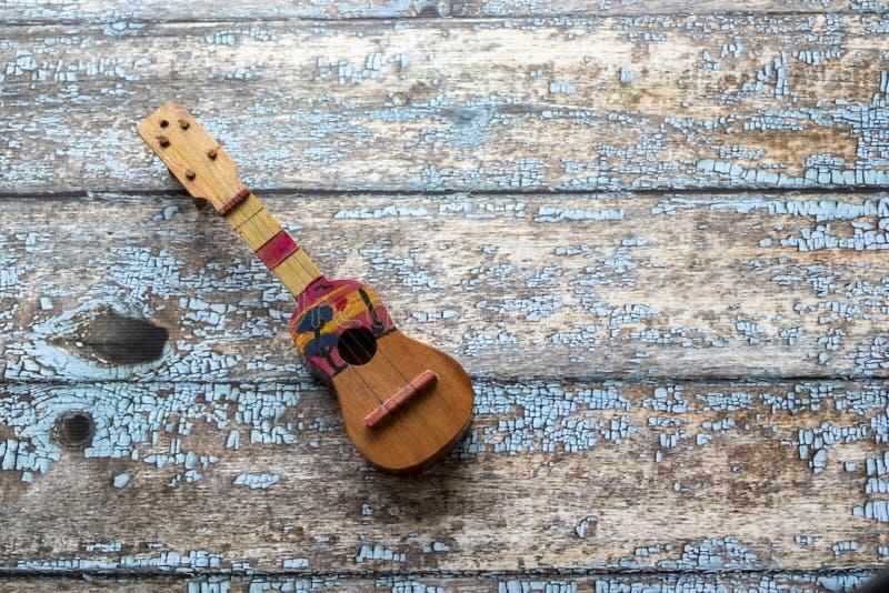 Opinião um venezuelano de Cuatro, instrumento musical latino-americano imagem de stock royalty free