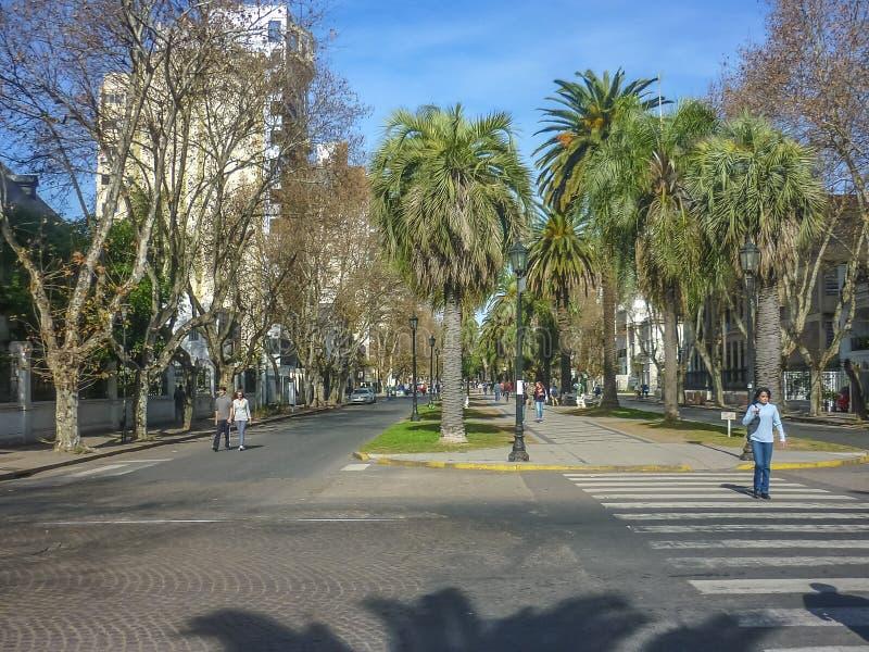 Opinião urbana Rosario City em Argentina foto de stock royalty free