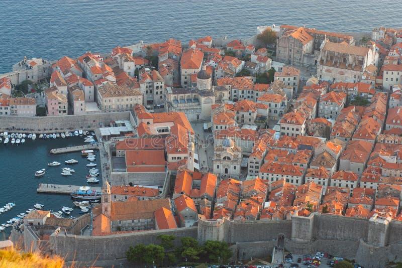 Opinião velha da cidade de Dubrovnik do forte imperial imagem de stock royalty free