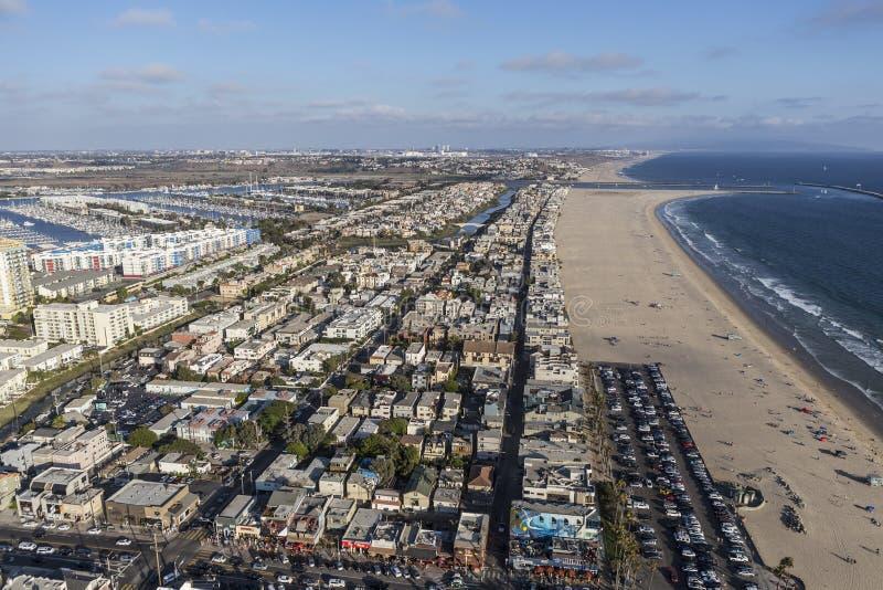 Opinión aérea de California de la playa de Venecia fotos de archivo libres de regalías