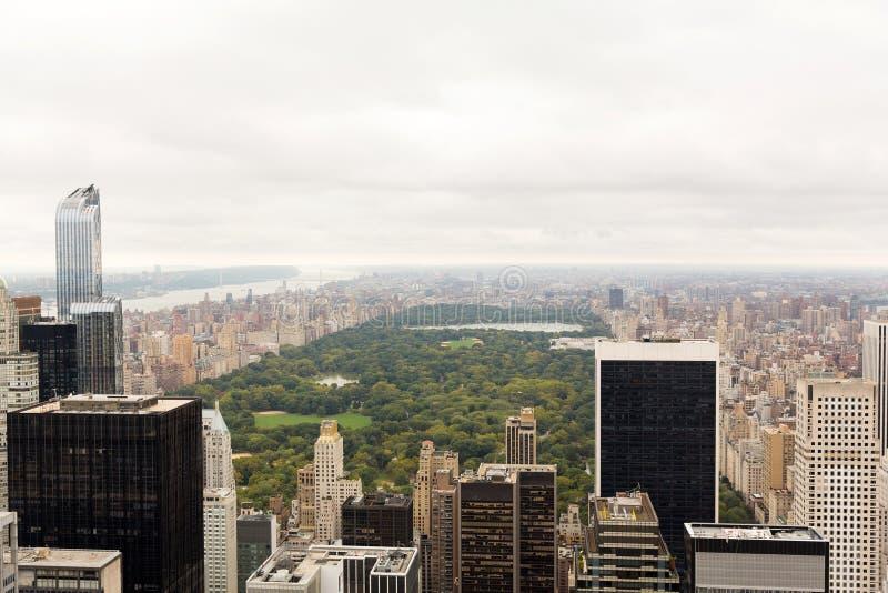 Opinión aérea de Central Park fotografía de archivo libre de regalías