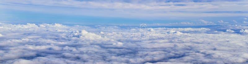 Opinión aérea de Cloudscape sobre los estados de cercano oeste en vuelo sobre Colorado, Kansas, Missouri, Illinois, Indiana, Ohio fotografía de archivo