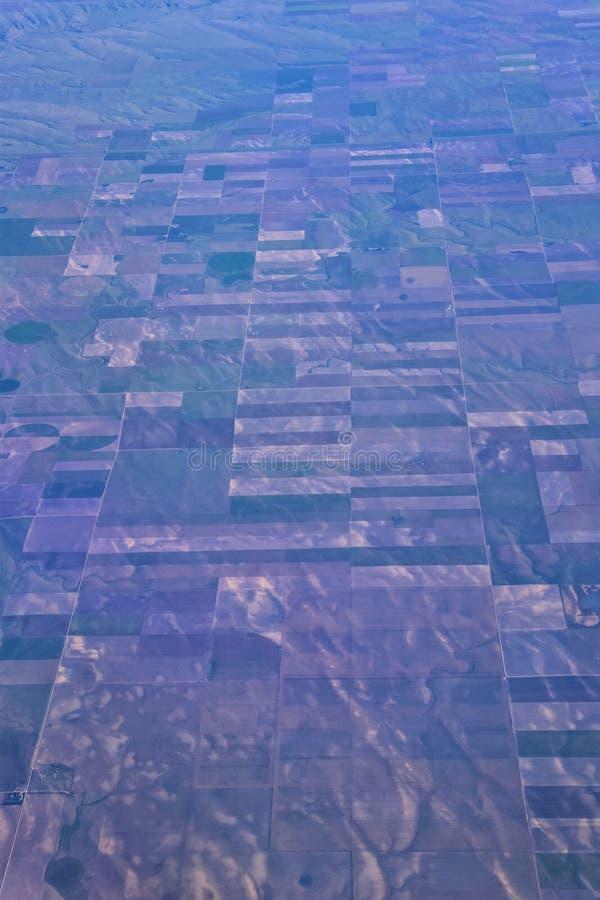 Opinión aérea de Cloudscape sobre los estados de cercano oeste en vuelo sobre Colorado, Kansas, Missouri, Illinois, Indiana, Ohio imagen de archivo libre de regalías