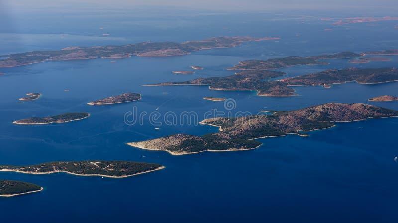 Opinión aérea de Croacia imagen de archivo