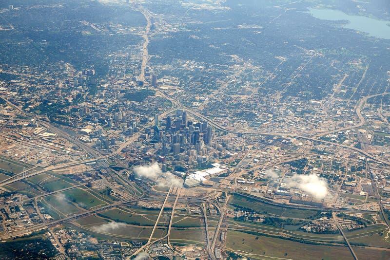Opinión aérea de Dallas en Tejas foto de archivo libre de regalías