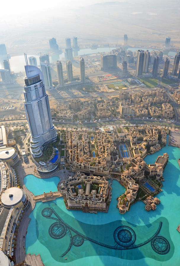 Opinión aérea de Dubai fotos de archivo