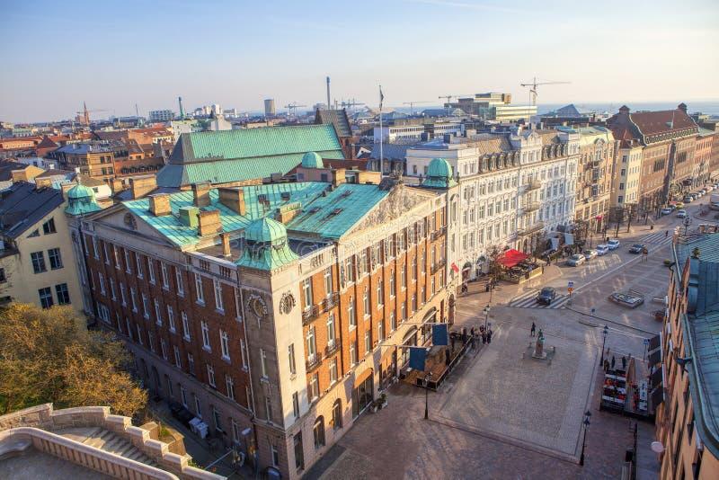 Opinión aérea de Helsingborg imagen de archivo