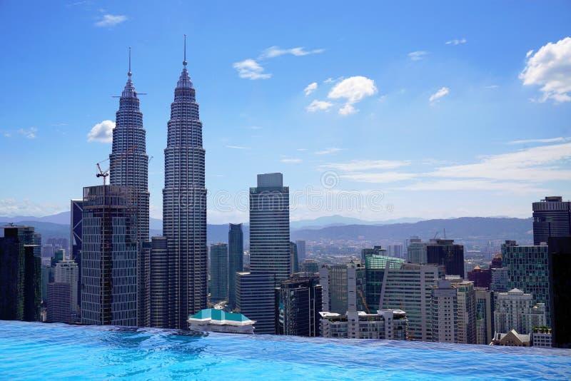 Opinión aérea de Kuala Lumpur de la piscina imagenes de archivo