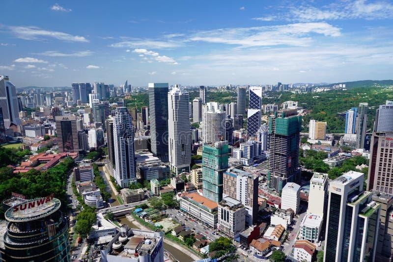 Opinión aérea de la ciudad de Kuala Lumpur, capital de Malasia fotos de archivo libres de regalías