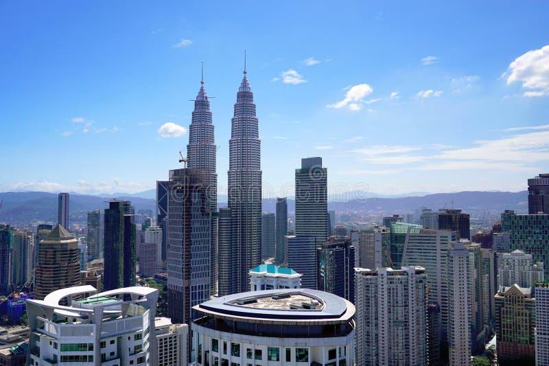 Opinión aérea de la ciudad de Kuala Lumpur, capital de Malasia imágenes de archivo libres de regalías
