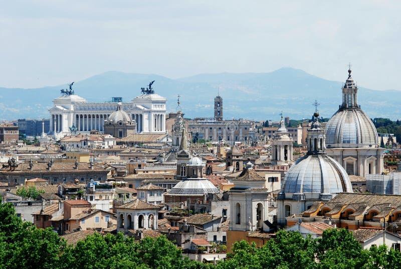 Opinión aérea de la ciudad de Roma del castillo de San Ángel fotografía de archivo libre de regalías