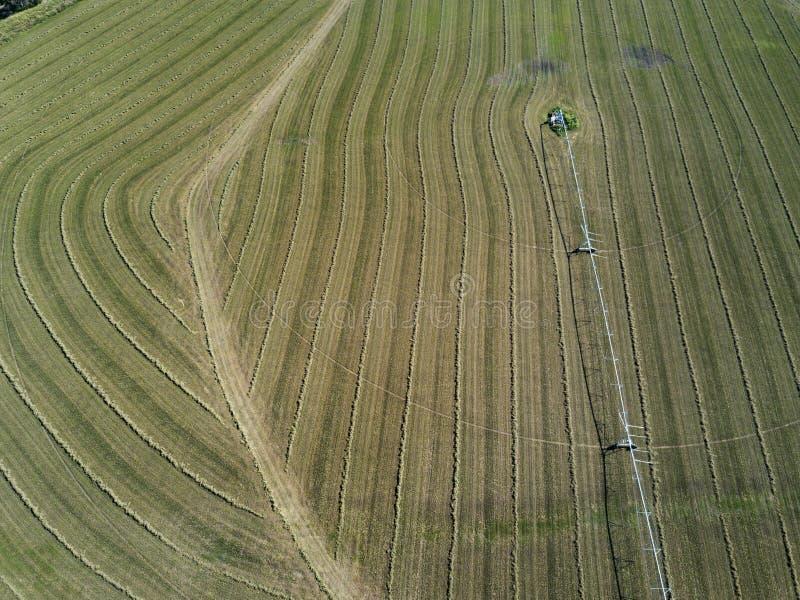 Opinión aérea de la granja cerca de Goomeri Queensland imagen de archivo libre de regalías