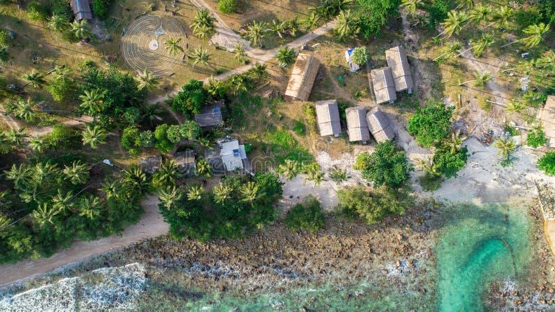 Opinión aérea de la isla imágenes de archivo libres de regalías