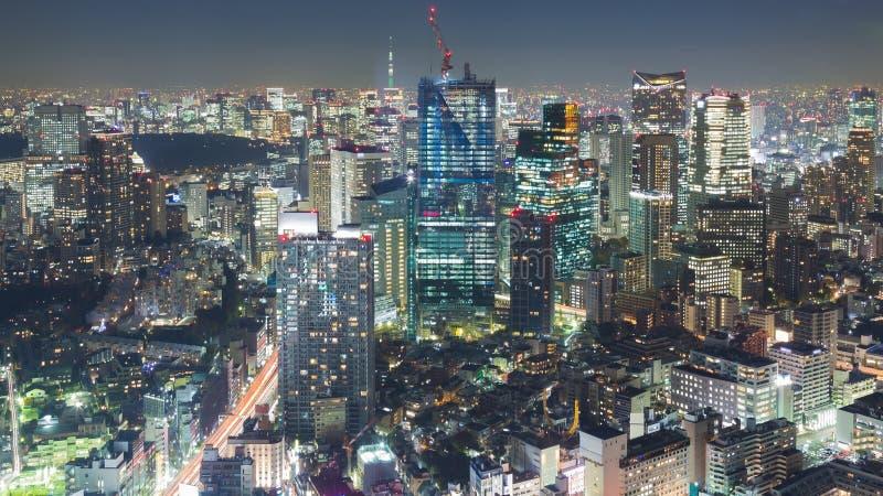 Download Opinión Aérea De La Noche De Tokio Céntrica En La Noche Foto de archivo - Imagen de configuración, aéreo: 64205256