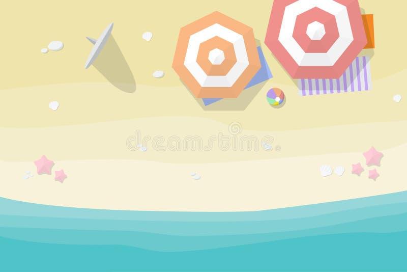 Opinión aérea de la playa stock de ilustración