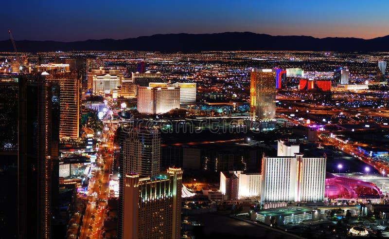 Opinión aérea de la tira de Las Vegas fotografía de archivo