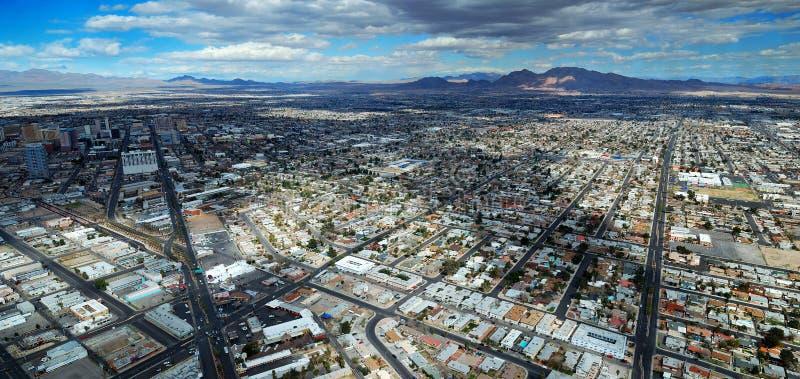 Opinión aérea de las calles de Las Vegas foto de archivo
