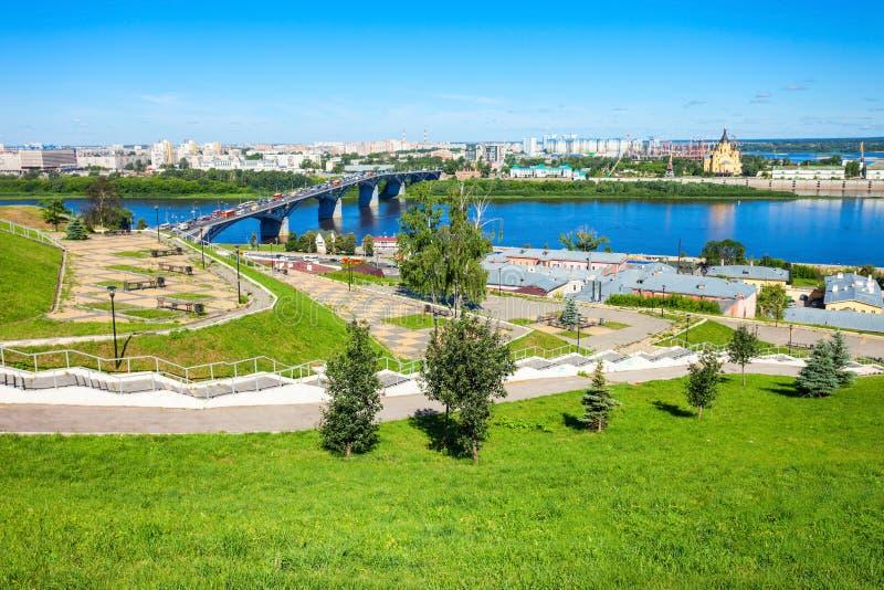 Opinión aérea de Nizhny Novgorod foto de archivo