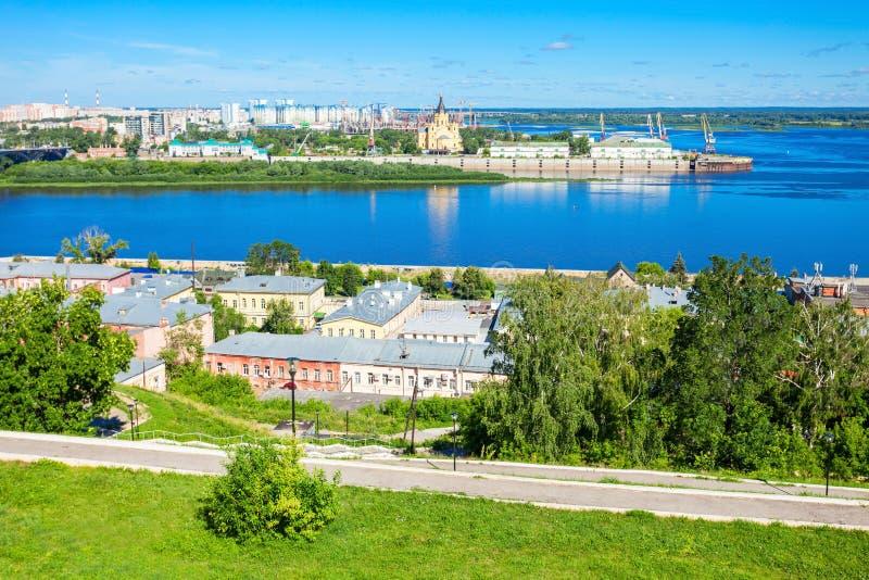 Opinión aérea de Nizhny Novgorod imágenes de archivo libres de regalías