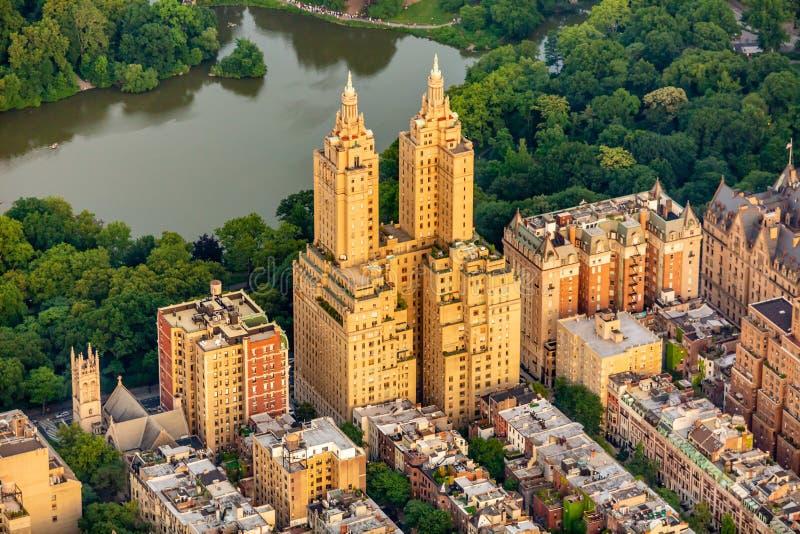 Opinión aérea de Nueva York Central Park en verano fotos de archivo