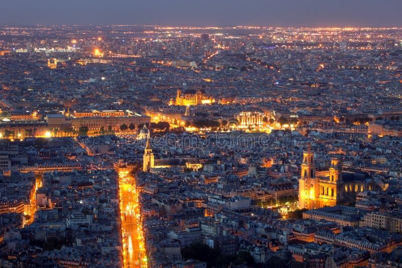 Opinión aérea de París (01), Francia imágenes de archivo libres de regalías