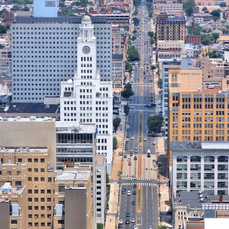 Opinión aérea de Philadelphia imagen de archivo libre de regalías