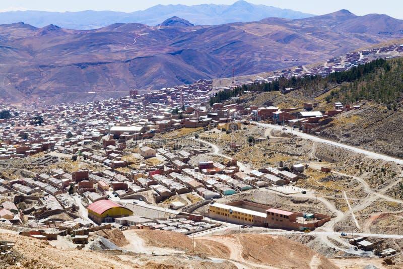 Opinión aérea de Potosi, Bolivia imagen de archivo libre de regalías