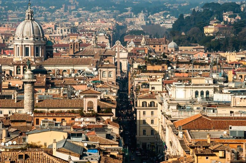 Opinión aérea de Roma imagen de archivo