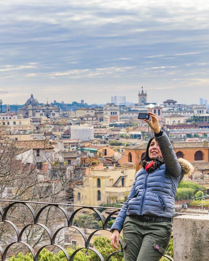 Opinión aérea de Roma del punto de vista de Pincio imagen de archivo