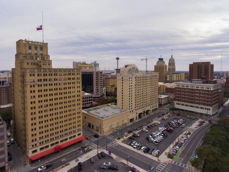 Opinión aérea de San Antonio, Tejas, los E.E.U.U. imagen de archivo libre de regalías