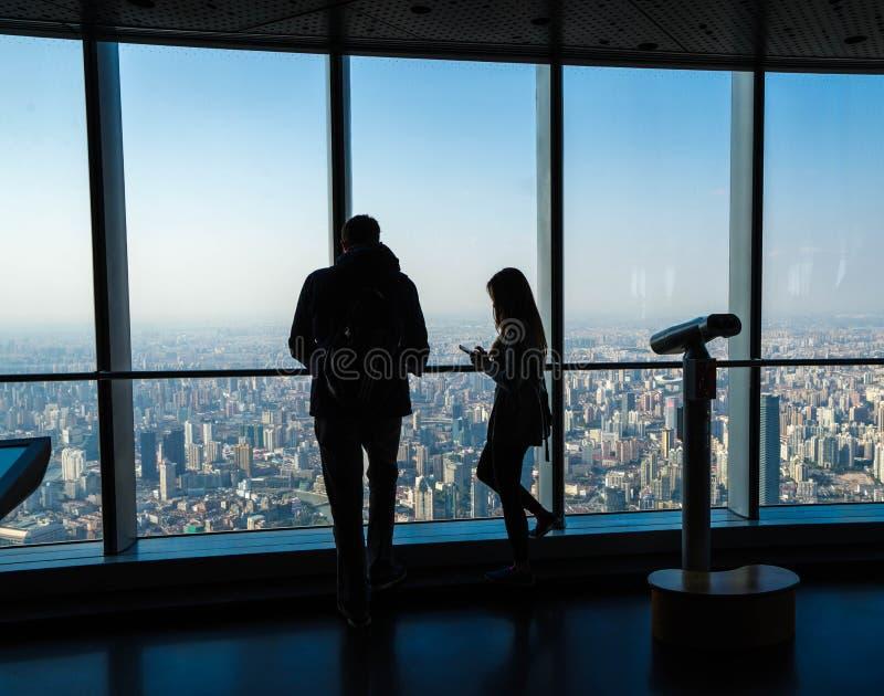 Opinión aérea de Shangai fotos de archivo