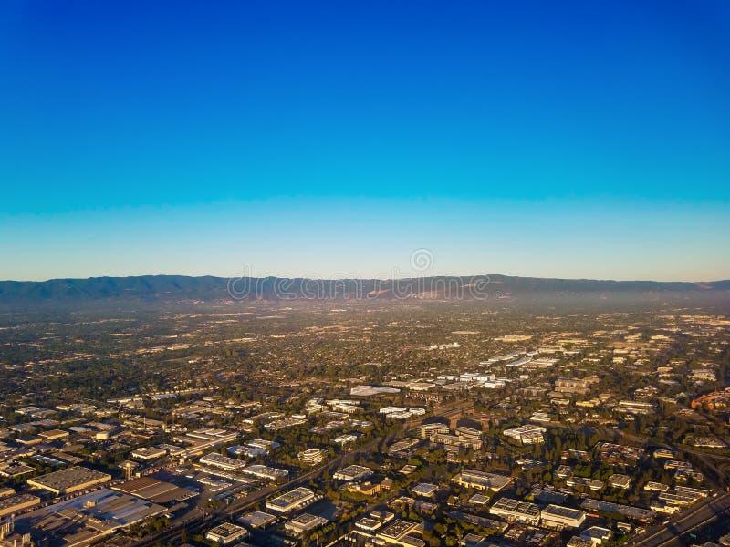 Opinión aérea de Silicon Valley imagen de archivo libre de regalías