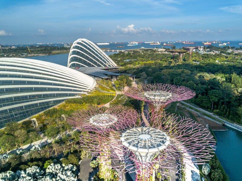 Opinión aérea de Singapur imagen de archivo