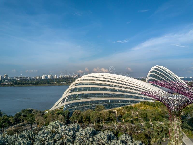 Opinión aérea de Singapur imagenes de archivo