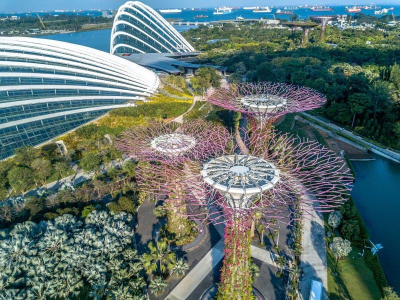 Opinión aérea de Singapur fotos de archivo libres de regalías