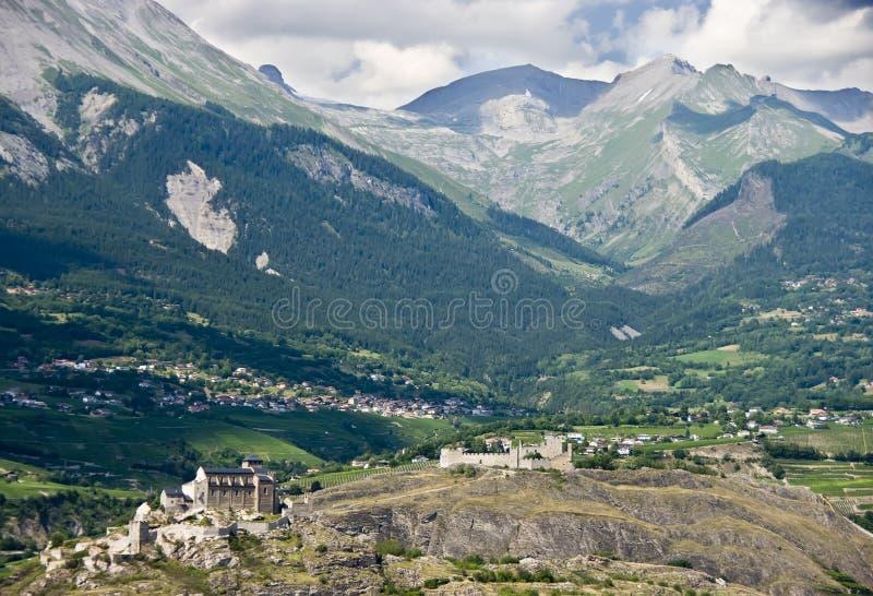 Opinión aérea de Sion foto de archivo libre de regalías
