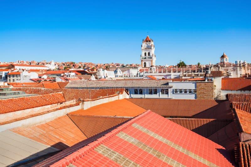 Opinión aérea de Sucre foto de archivo libre de regalías