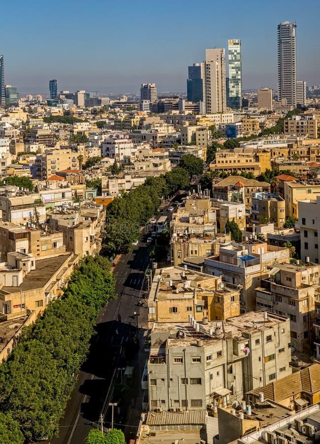 Opinión aérea de Tel Aviv fotografía de archivo libre de regalías