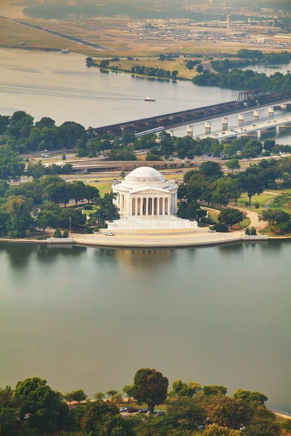 Opinión aérea de Thomas Jefferson Memorial en Washington, DC imagen de archivo libre de regalías