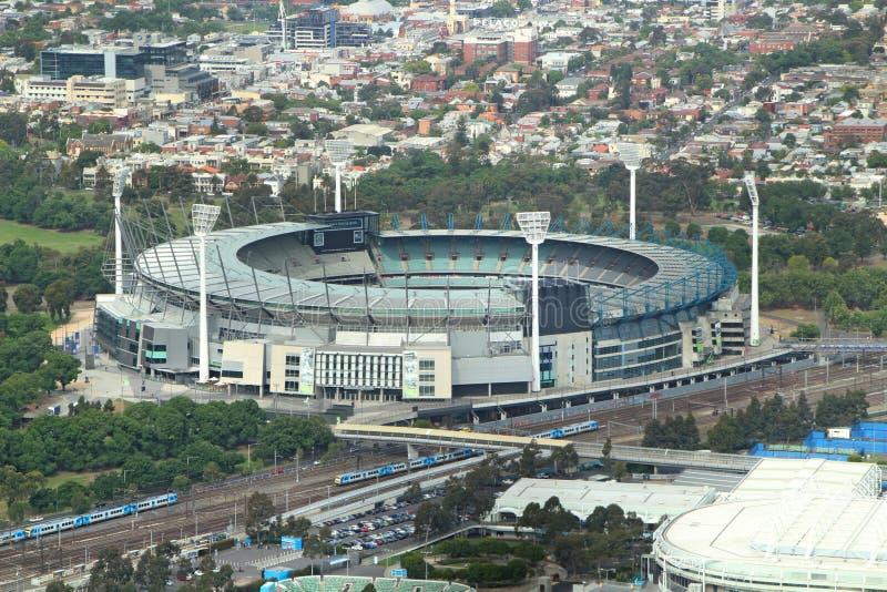 Opinión aérea de tierra del grillo de Melbourne, magnetocardiograma fotos de archivo