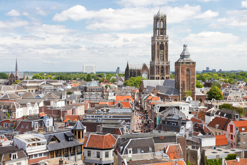 Opinión aérea de Utrecht, Países Bajos imagen de archivo libre de regalías